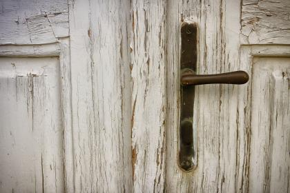 door, wood, door knob, house, home, family, old, paint