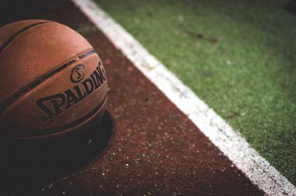 basketball, ball, spalding, court, sports, exercise, hobby, red, tracking field, running, run, jogging