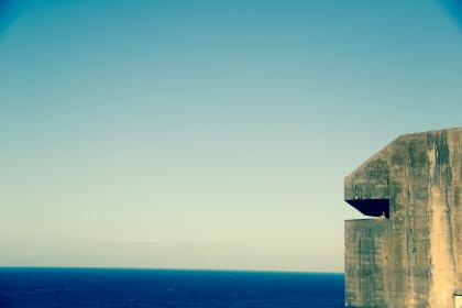 ocean, sea, horizon, blue, sky, water, summer, sunshine, watchtower