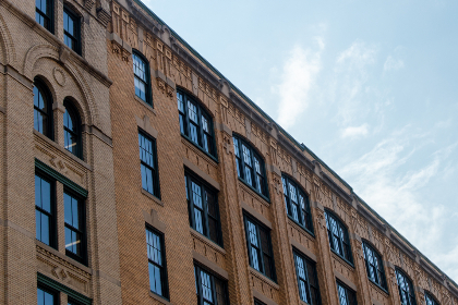 city,   building,   angle,   brick,   sky,   windows,   detail,   architecture,   structure,   office,   commercial,  clouds,  reflection,  apartments,  ornate,  design