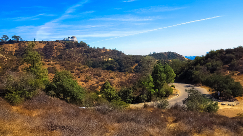 usa,  los angeles, hills, landscape, view, trees