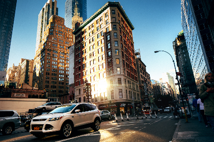 car,  city,  steet,  usa,  ny,  new york,  corner,  skyscraper,  office,  business,  lights,  traffic