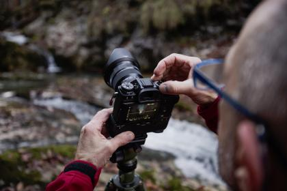 nature, man, people, camera, photography, water, rocks, glasses, travel