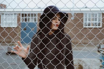 people, girl, woman, fashion, clothing, hat, model, outdoor, fence