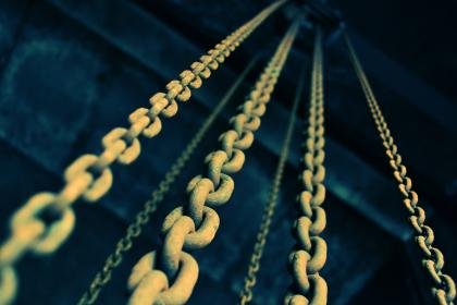 chain, rusty, old, metal, link