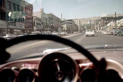 road,   cars,   retro,   vintage,   auto,   old,   travel,   vacation,   city,   driving,   horizon,   automobiles,   commute,  film,  photography,  steering,  wheel
