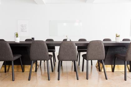 interior, design, tables, chairs, white, wall, board, floor, meeting, room, office, business