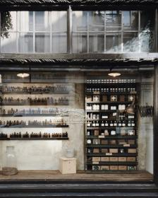 building, perfume, shelf, bottles, boxes, store