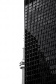 architecture, building, infrastructure, skyscraper, tower, black and white