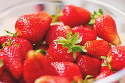 free photo of red  strawberries