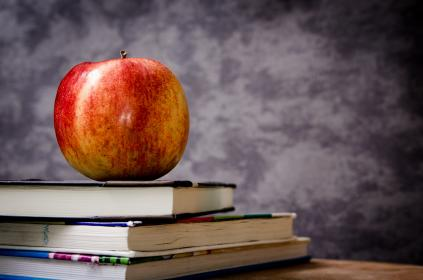 free photo of apple  textbooks