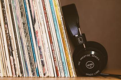 headphones, music, song, foam, playlist, band, singer, wire, vinyl, record