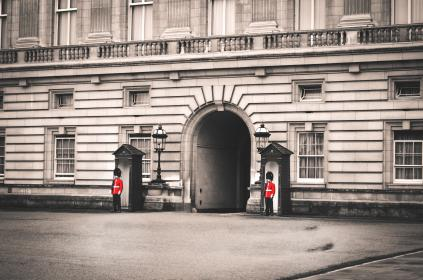 architecture, building, infrastructure, structure, establishment, windows, military, guard, door, london, buckingham, palace