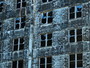 old,   exterior,   facade,   wall,   windows,   building,   outdoor,   urban,   perspective,   brick,  broken,  glass,  factory,  industrial,  architecture