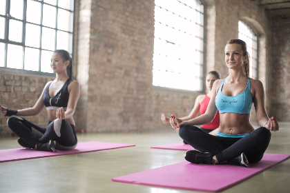 woman,  yoga,  studio,  sport,  workout,  mat,  building,  excercise,  concentrate