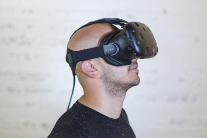 people, man, guy, mustache, virtual reality, vr, video, games, electronic, technology