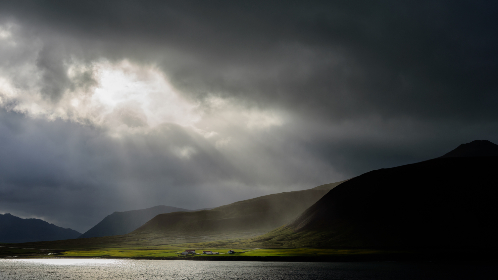 sun,  ray,  cloud,  mountains,  lake,  water,  sky,  landscape,  dramatic,  nature,  outdoors,  view,  clouds,  valley,  weather,  illumination
