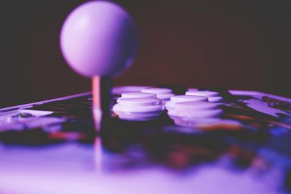 fun, games, purple, arcade, machine, buttons, joystick