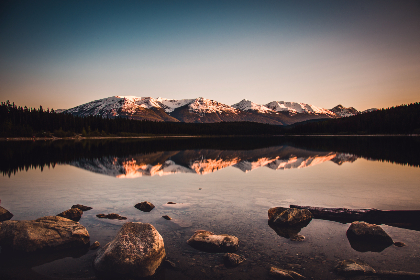 mountains,  mountain,  jasper,  nature,  earth,  Canada,  lake,  water,  scenic,  sunset,  landscape,  evening,  reflection,  travel,  outdoors,  sky,  rocks