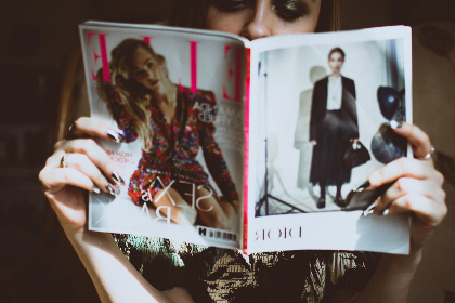 woman,  reading,  fashion,  magazine,  female,  girl,  elle,  vogue,  learn,  relax,  hands,  hold