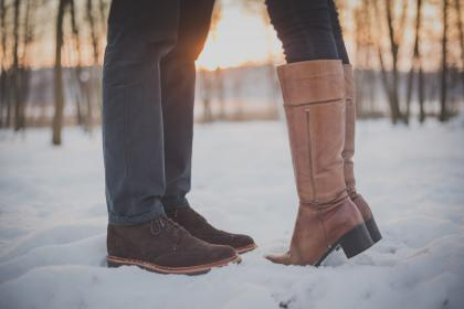 boots, shoes, people, couple, love, romance, snow, cold, winter, fashion, shoes, outdoors, nature