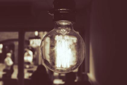 light, bulb, filaments, interior, people, sepia