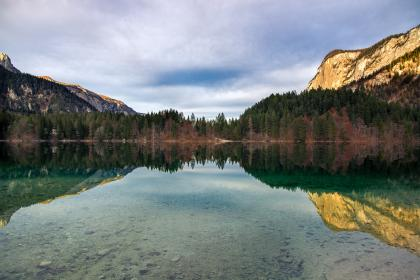 reflect, reflection, mountains, nature, clouds, water, lake, pine, trees, rocks, sky,  adventure, travel, trip