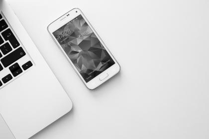 smartphone, mobile, laptop, computer, technology, business, objects, black and white