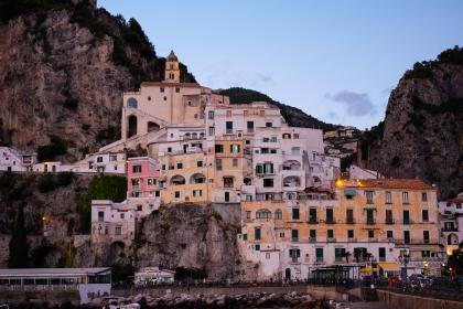 architecture, building, infrastructure, design, amalfi, italy, landmark, highland, landscape, view, coast