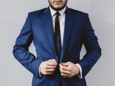suit, tie, blazer, fashion, clothes, guy, man, gentleman, people, hands, beard