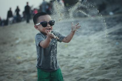 sand, beach, people, boy, kid, child, happy, playing, sunglasses, outdoor, travel