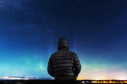 stars, galaxy, space, astronomy, night, dark, evening, guy, man, people, outdoors, nature, landscape
