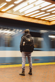 free photo of commuter   waiting