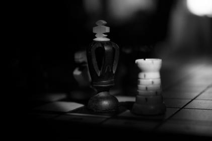 chess, game, black and white