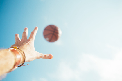 basketball,  hand,  sky,  catch,  sport,  athlete,  exercise,  fun,  court,  playground,  sunny,  outdoors