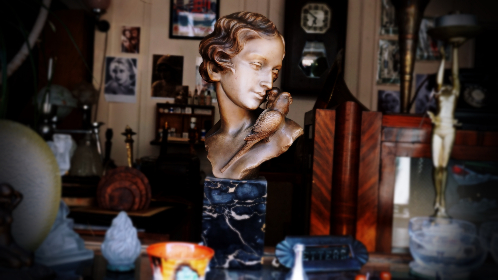 antique, shop, collection, statue, market, store, design, interior, vintage