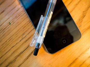 iphone, mobile, pen, technology, objects, office, desk, business