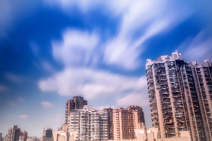 buildings, high rises, city, architecture, urban, downtown, cityscape, skyline, sky, clouds, apartments, condos, balconies, homes, houses
