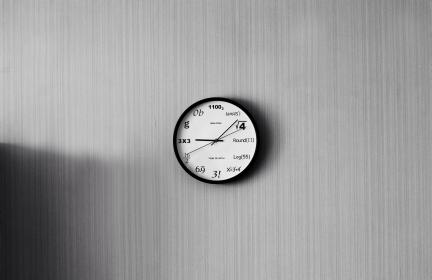 wall, clock, circle, round, shape, interior, indoor, time, hour, minute