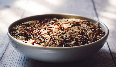 food,  rice,  brown rice,  wholegrain,  eating healthy,  healthy food,  wild rice,  red camargue rice,  grains, healthy, bowl, white