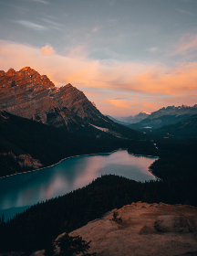 mountain,  lake,  dusk,  sunset,  sky,  clouds,  nature,  outdoors,  landscape,  water,  explore,  travel,  hike,  adventure,  wanderlust,  scenic,  view