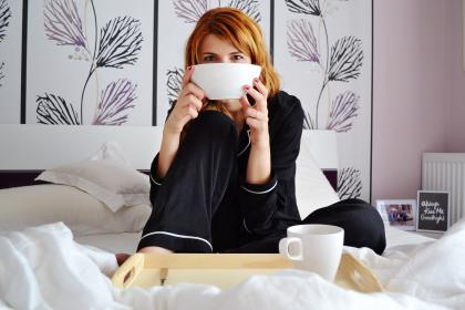 free photo of breakfast  bed