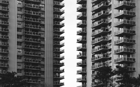 apartment,   abstract,   balcony,   terraces,   monochromatic,   view,   apartments,   living,   city,   tall,   buildings,   urban,   architecture,   modern,   structure,   windows,  monotone