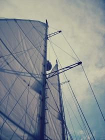 sailboat, sals, mast, boating, sky