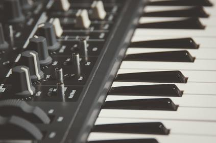 piano, keyboard, black and white, musical, instrument, music