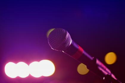 mic, microphone, music, musician, band, stage, concert, lights, recording, sound, audio