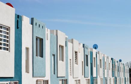 architecture, building, infrastructure, blue, sky, house, apartment, residence