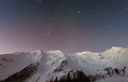 sky,  stars,  night,  mountains,  winter,  snow,  nature,  cold, dark, evening, galaxy, astronomy, space, peaks, hd wallpaper, desktop wallpaper