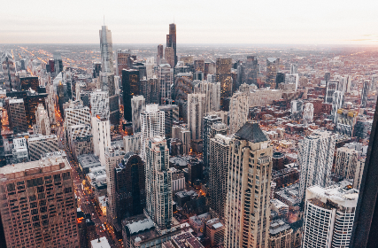 chicago,  lakeshore,  views,  skyscrapers,  highrise,  buildings,  city, urban, downtown, rooftops, urban, skyline