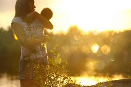 woman,  child,  sunset,  bokeh,  parents,  family,  girl,  female,  baby,  toddler,  nature